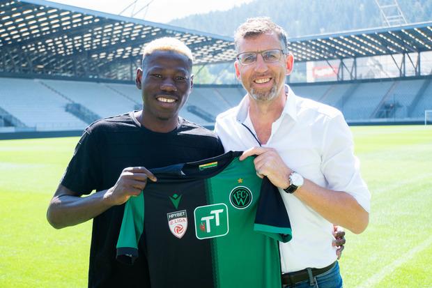 Der FC Wacker verpflichtete am Mittwoch Sunday Faleye.