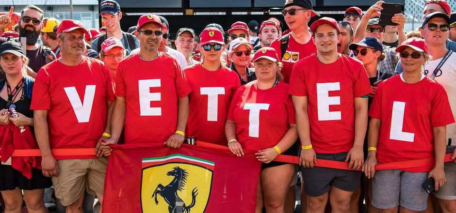 Die Ferrari- und Vettel-Fans hatten nach der Vormittags-Session Grund zum Jubeln.