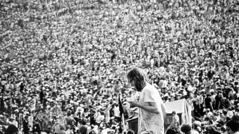 Hunderttausende Hippies pilgerten zu dem legendären Woodstock-Festival im Jahr 1969.