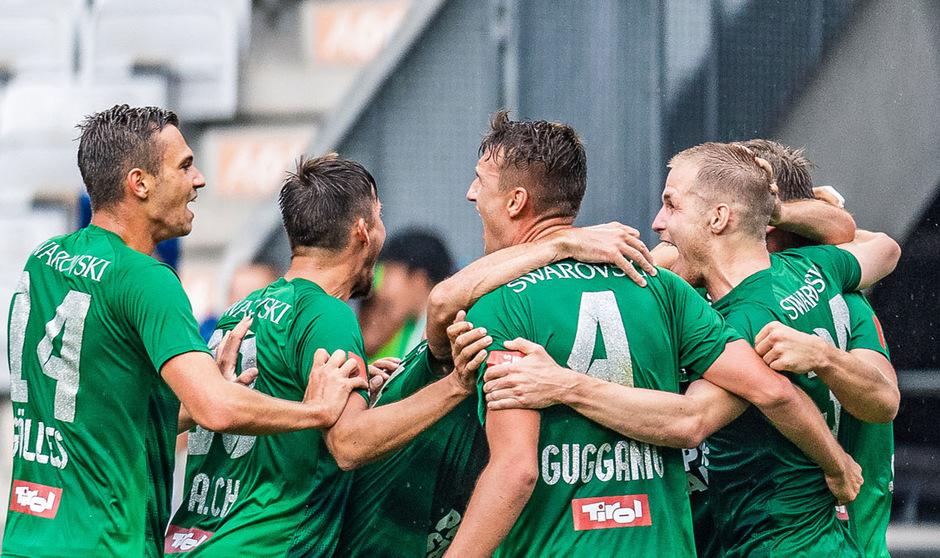 Gleich im ersten Bundesliga-Spiel durfte die WSG Swarovski Tirol über drei Punkte jubeln.