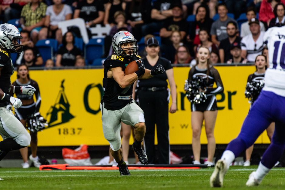 Am Samstag einmal mehr die Speerspitze der Swarco Raiders: Sandro Platzgummer und seine Teamkollegen lieferten in der Austrian Bowl XXXV ihr Meisterstück ab.