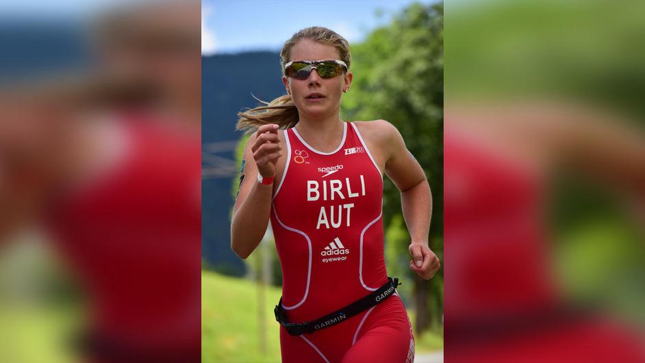 Nathalie Birli nahm bereits an mehreren Triathlon-Wettkämpfen teil, wie hier im Jahr 2015 in Kitzbühel.