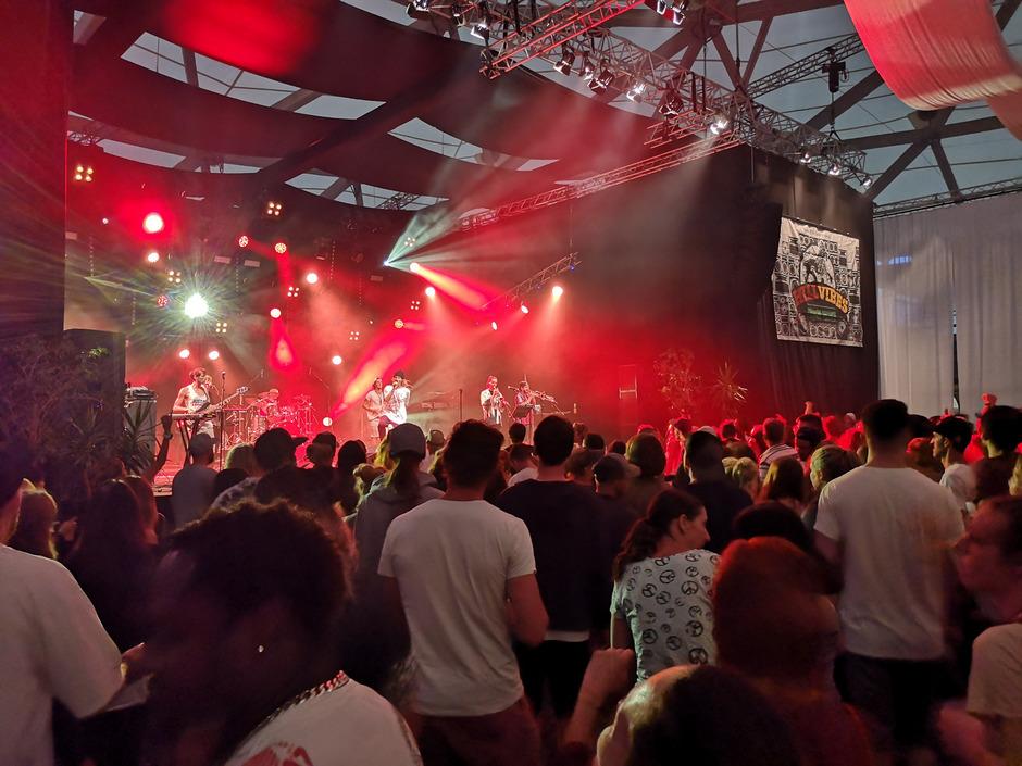 """Die Tiroler """"Rebel Musig Crew"""" trat am Samstag vor den jamaikanischen Stars Agent Sasco, Tanya Stephens und Busy Signal auf."""