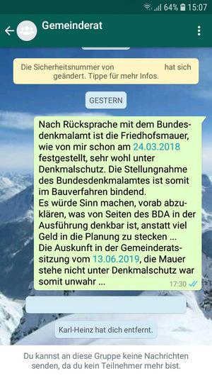 Frank Kerber war in der WhatsApp-Gruppe nicht erwünscht.