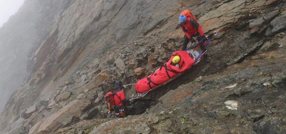 Der Einsatz gestaltete sich für die Bergretter schwierig.