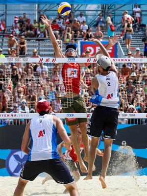 Mister Mega-Block: Martin Ermacora hofft, mit seinen 2,03 Metern Körpergröße den Raum über dem Netz dichtzumachen.