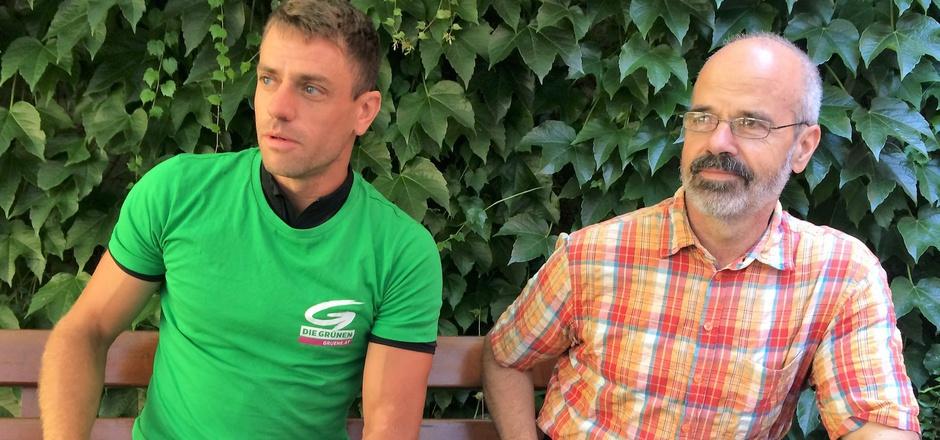 Gebi Mair (l.) und Thomas Haidenberger setzen auf das Rad.