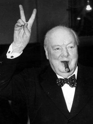 Winston Churchill pflegte beim nach Hause kommen zu bellen.