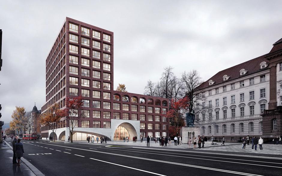 So soll das Gebäude ab 2022 aussehen. Die Tiefgarage spart sich die Bundesimmobiliengesellschaft aber.