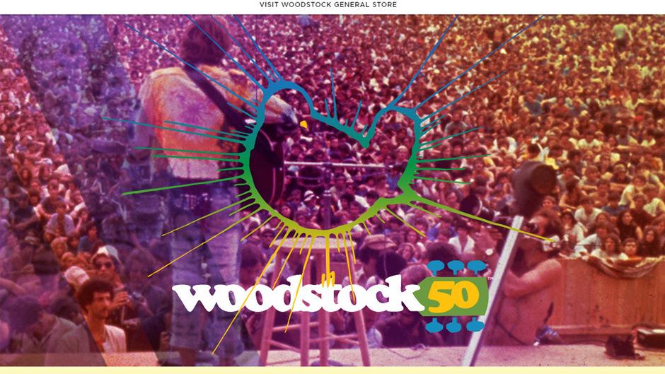 """Auf der omepage gaben die Veranstalter die Absage von """"Woodstock 50"""" bekannt."""