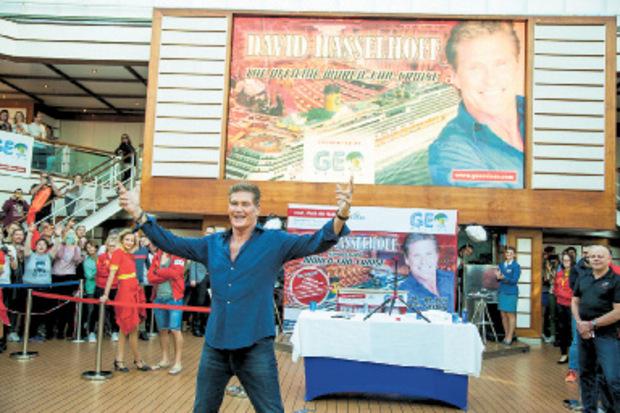 David Hasselhoff nahm seine Fans mit auf eine Kreuzfahrt.