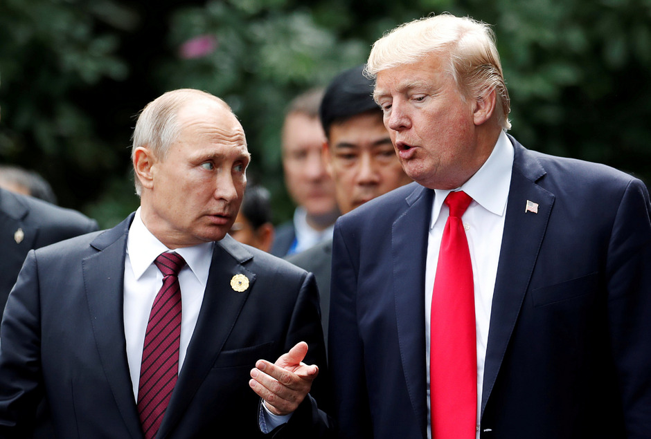 US-Präsident Donald Trump (r.) und Russlands Staatsoberhaupt Wladimir Putin.