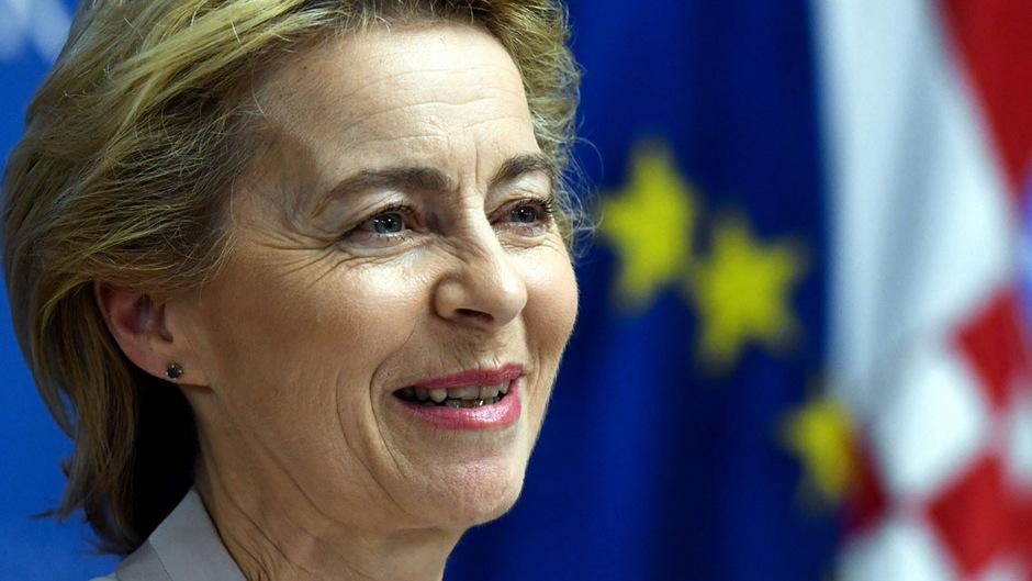 EU-Kommissionschefin Ursula Von der Leyen stellt sich vor.