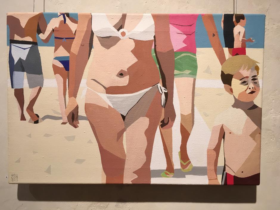 """""""Fonteblanda"""", 2013 von Georg Loewit in Acryl auf eine 40 mal 60 Zentimeter große Leinwand gemalt."""
