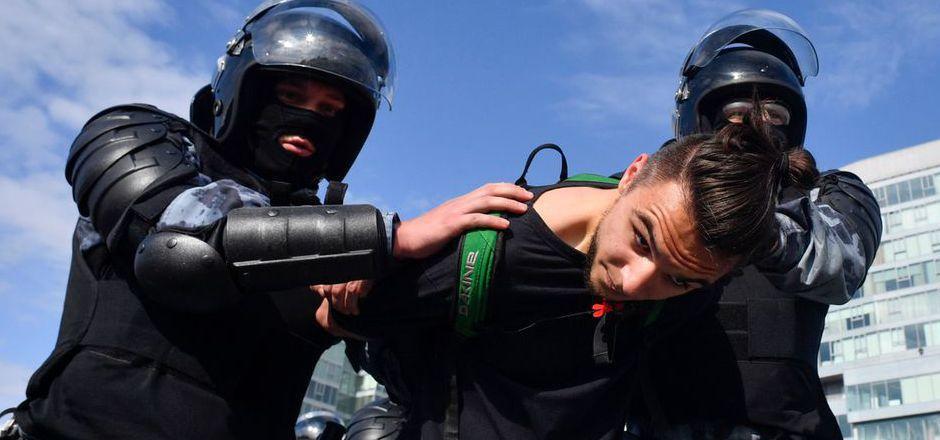 Mehr als 300 Demonstranten wurden festgenommen.