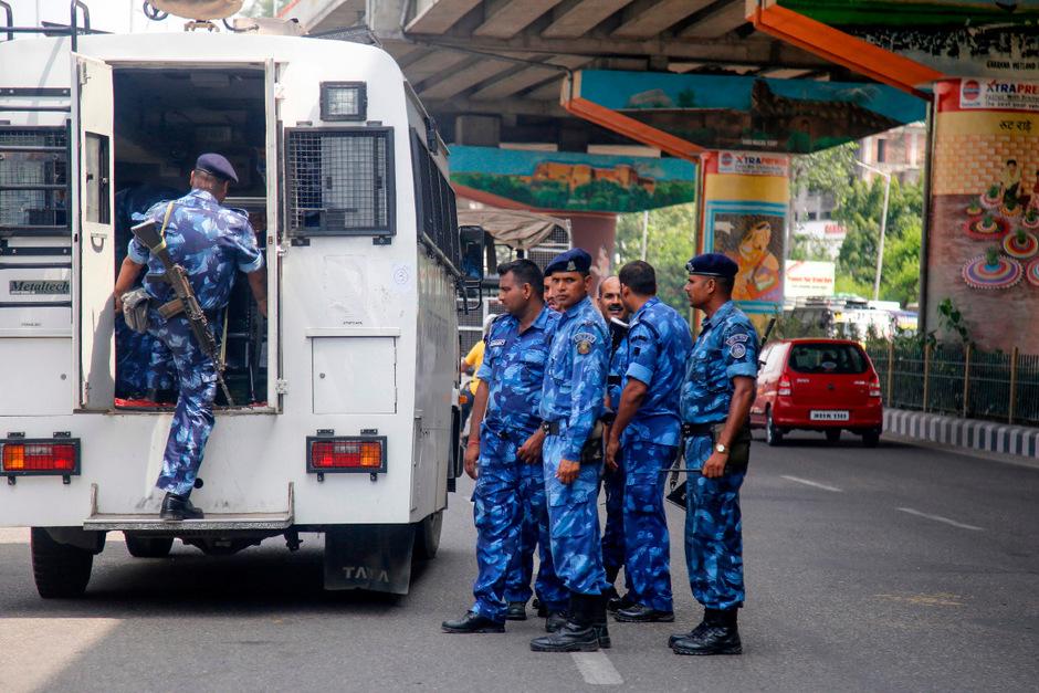 Das Aufgebot an Sicherheitskräften wurde massiv erhöht.