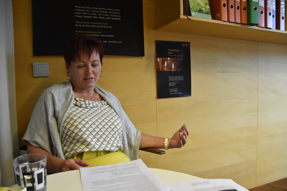 Sabine Hosp ist die Koordinatorin der Hospiz-Teams in Imst, Landeck und Reutte. Ihr Büro ist im Pflegezentrum Gurgltal in Imst.