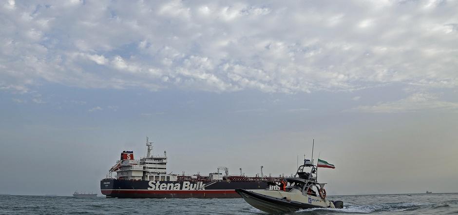 """Bereits am 19. Juli hat die iranische Eliteeinheit den britischen Öltanker """"Stena Impero"""" abgefangen."""