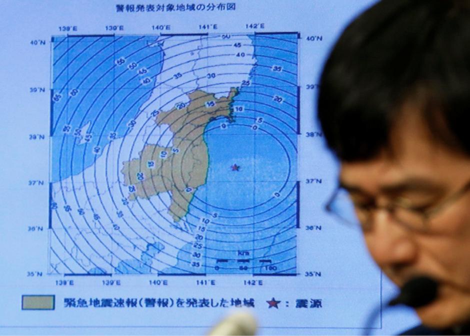 Immer wieder kommt es in Fukushima zu schweren Beben.