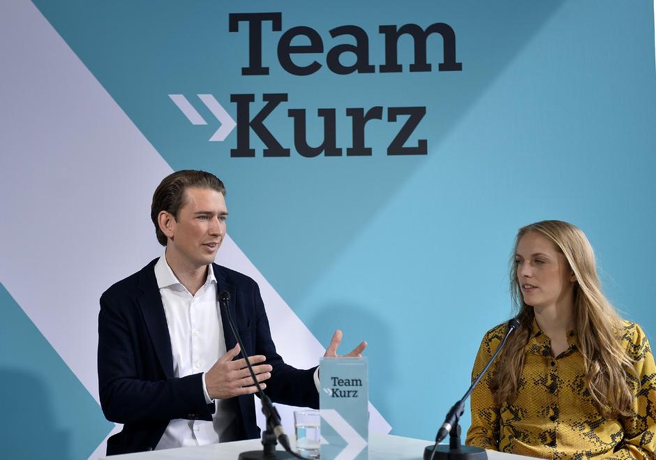 Bereits 2017 führte Kurz die ÖVP-Liste an und Grünberg kandidierte auf Rang zehn. Das ist auch diesmal so.