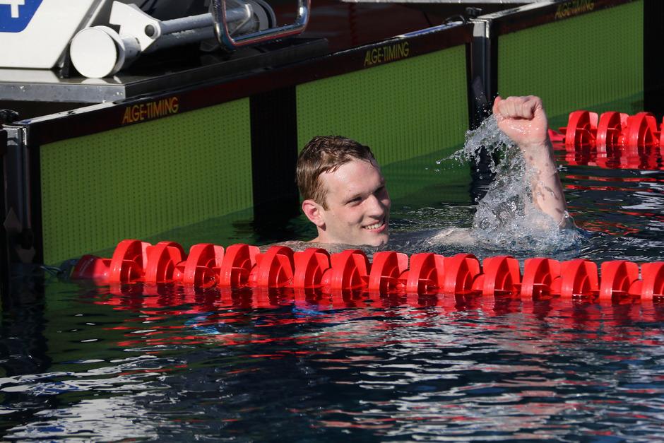 Felix Auböck durfte im Tivoli jubeln – nach erfolgreicher Olympia-Qualifikation über 800 m Kraul.