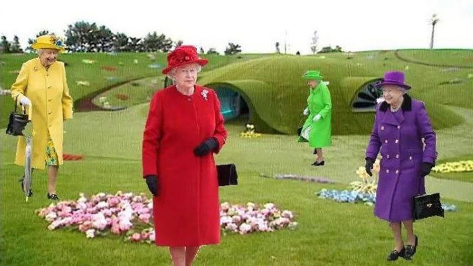 Die von Elon Musk veröffentlichte Fotomontage zeigt die Queen als Teletubbies.