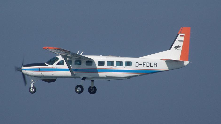 Das DLR-Forschungsflugzeug vom Typ Cessna C-208B Grand Caravan.