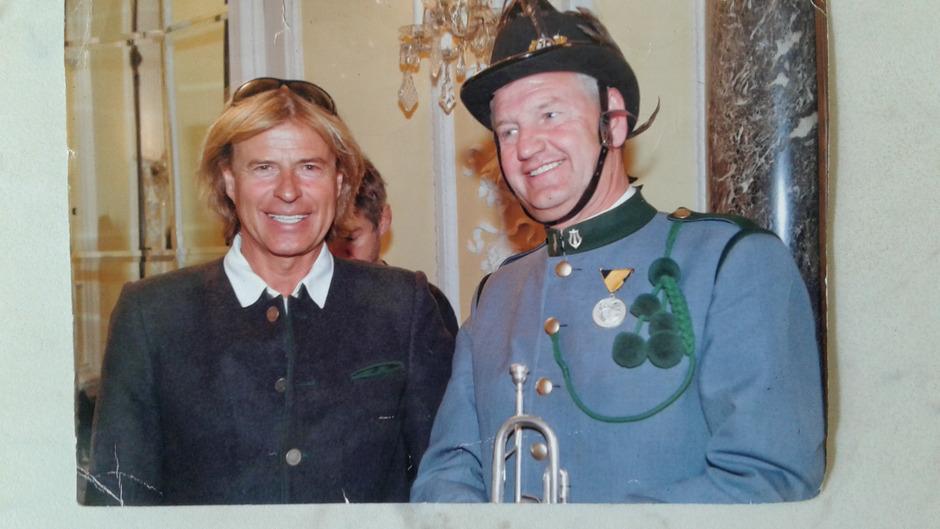 Pieter Bukkems bei einem Treffen mit Hansi Hinterseer.