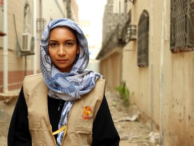 Care-Nothelferin Jennifer Bose im Jemen.