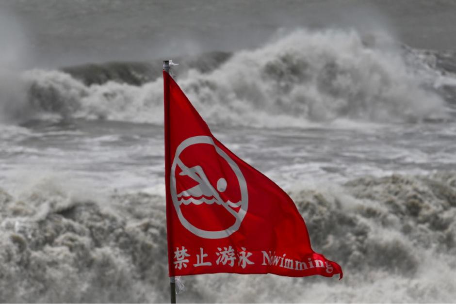 Das Meer vor den Küsten Yilans war nach dem Erdbeben stürmisch.