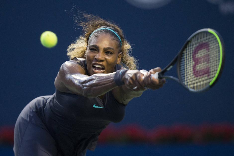 Back in action: Serena Williams gab sich beim 6:3,6:3 gegen Elise Mertens keine Blöße.