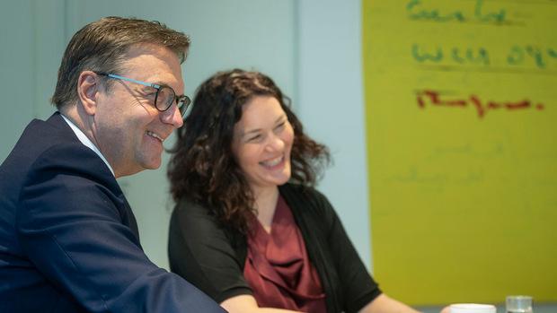 LHStv. Ingrid Felipe (Grüne) und LH Günther Platter (ÖVP).