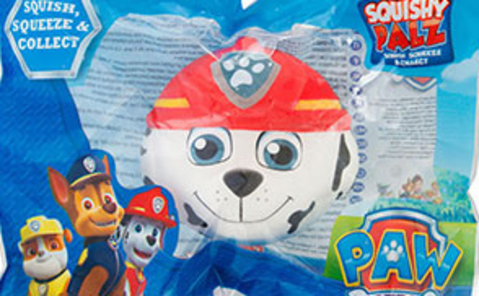 Squeezy Toy Paw Patrol Design Marshall (Art.Nr. 156241) des Herstellers Sambro International Ltd, UK