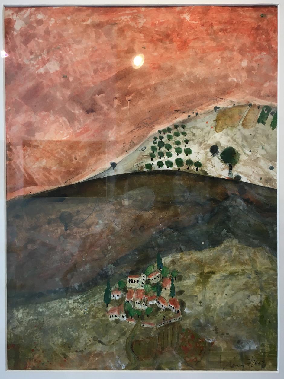 """Kleine Galerie: """"Basilikata 3"""" (Ausschnitt) von Norbert Kanz."""