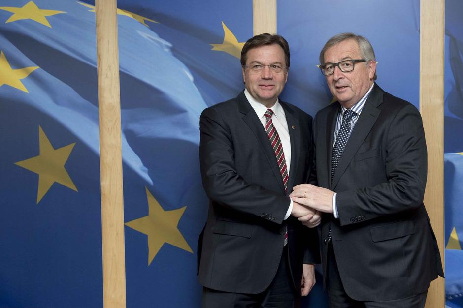 Landeshauptmann Günther Platter und EU-Kommissionspräsident Jean-Claude Juncker (Archivaufnahme).