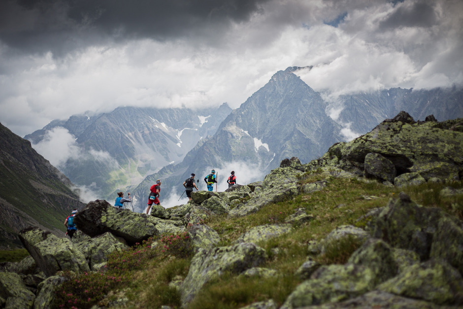 """Sechs Distanzen beim """"Pitz Alpine Glacier Trail"""" zwischen 15 und 105 Kilometern bringen die Starter jährlich im hochalpinen Gelände an ihre körperlichen Grenzen."""