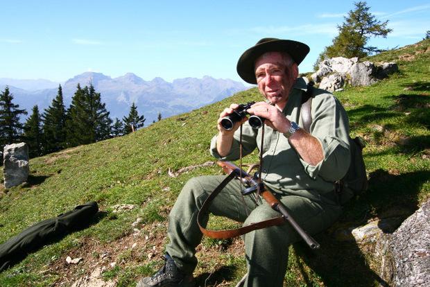 .. oder Leander Schädler im Rahmen seiner Wildniswanderung ...