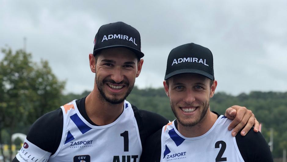 Der Tiroler Martin Ermacora und der Steirer Moritz Pristauz freuen sich über ihren EM-Erfolgslauf.