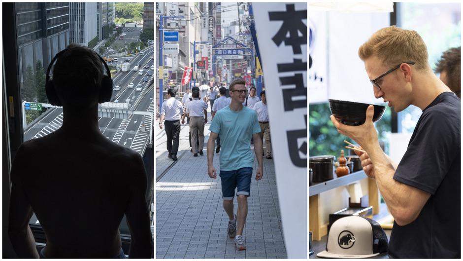 Zimmer mit Aussicht – Jakob Schubert kann Tokio gut leiden und liebt das Essen, insbesondere die Ramen-Suppen.