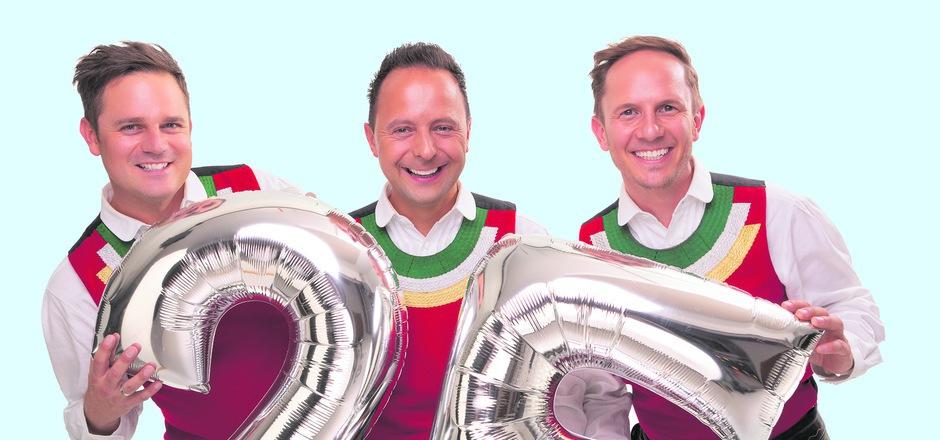 """Michael Ringler, Markus Unterladstätter und Daniel Prantl, 25 Jahre als """"Juzis"""" erfolgreich."""