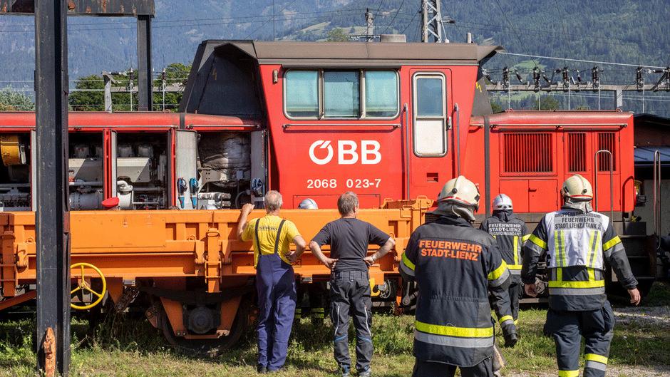 Einsatz beim Bahnhof Lienz.