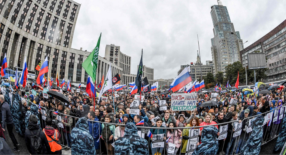 Die Kundgebung auf dem Sacharow-Prospekt am Samstag in der russischen Hauptstadt war die größte seit vielen Jahren.