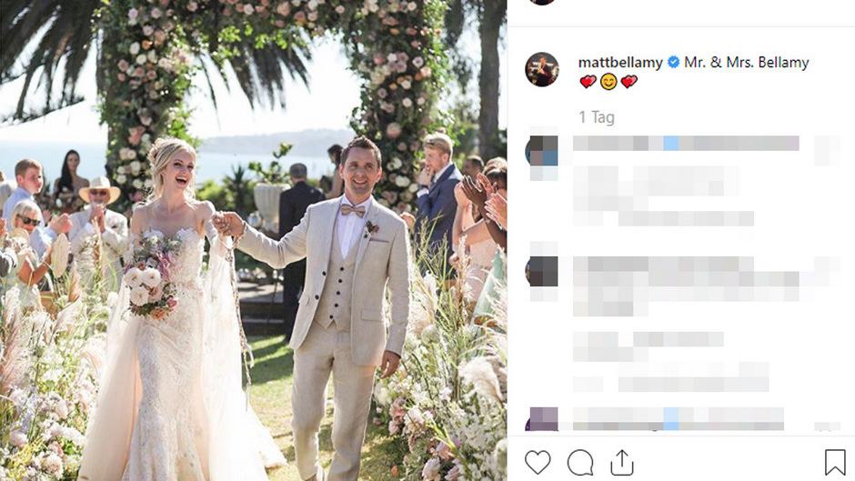 Matt Bellamy und Elle Evans haben sich das Ja-Wort gegeben.