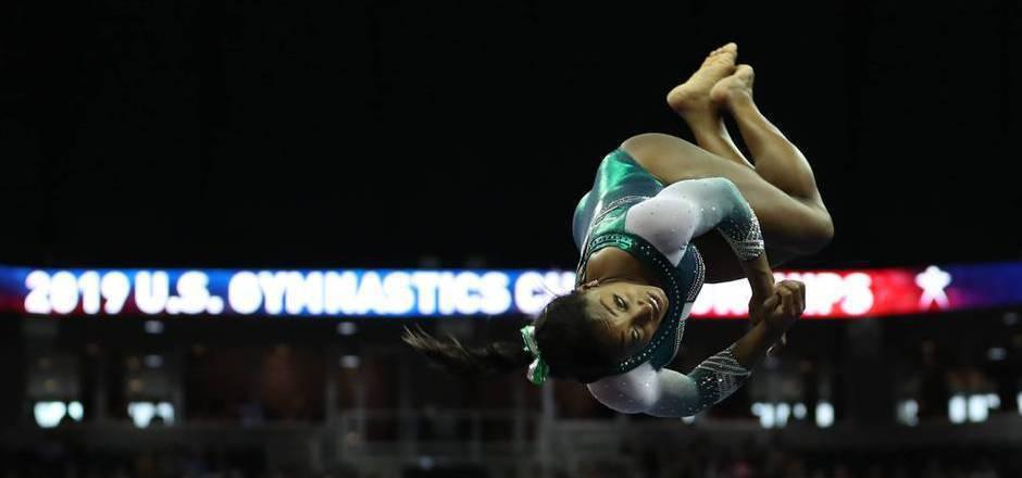 Sorgte für eine Turnsensation: Olympiasiegerin Simone Biles.