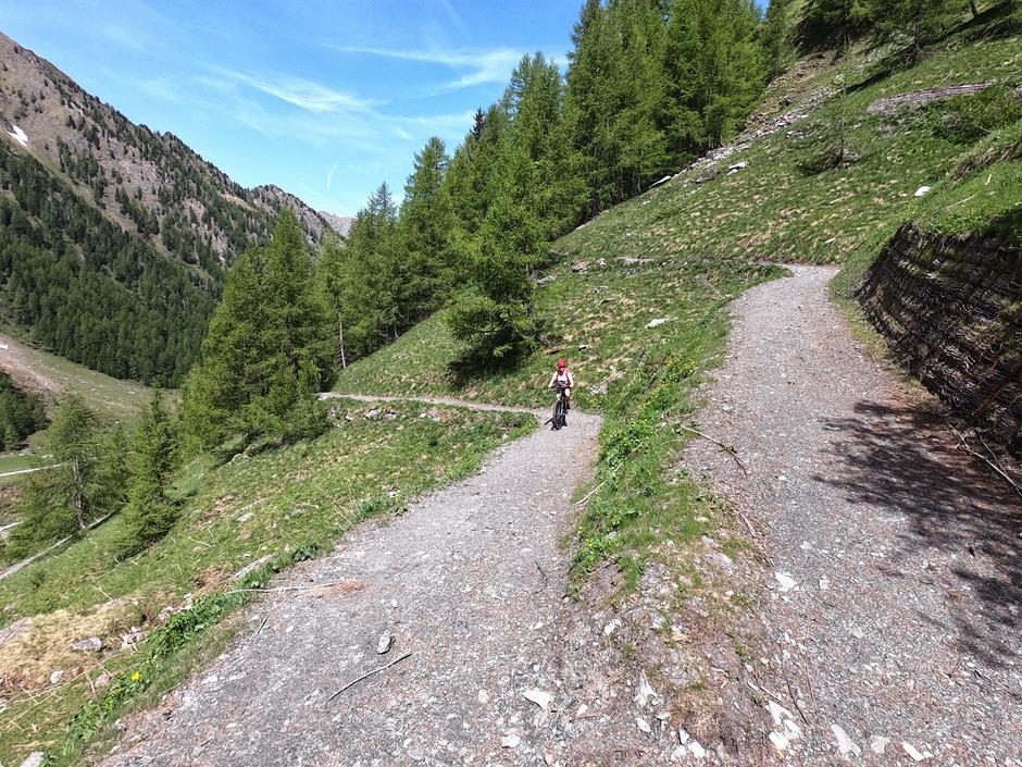 Mountainbiker und Wanderer werden sich den neuen Singletrail Nr. 5029 (Bild) von Schmirn/Kasern zum Tuxer Joch teilen.