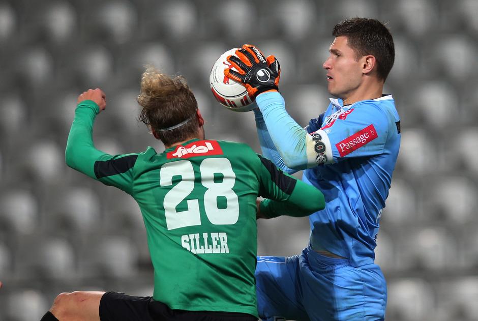 Am 27. Oktober 2015 bestritt der FC Wacker das letzte Pokalheimspiel. Damals verloren die Tiroler mit Siller gegen den LASK mit Goalie Pervan.