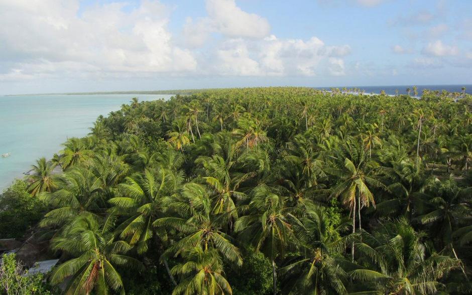 Der Inselstaat Kiribati ist durch den Klimawandel stark gefährdet.