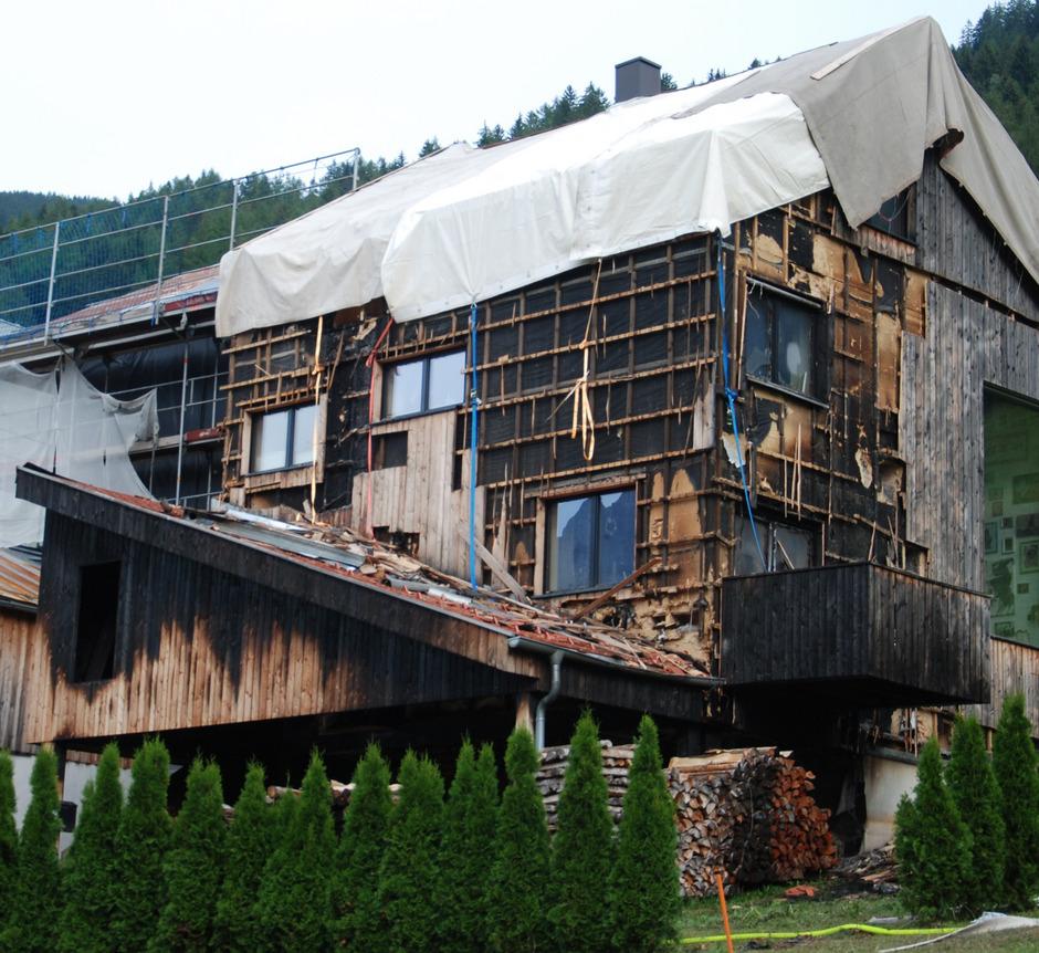 Wie es mit dem schwer beschädigten Haus in Tobadill weitergeht, war auch gestern unklar.
