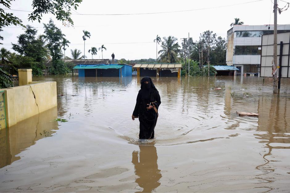 Die Monsunzeit dauert in Südasien gewöhnlich bis September.