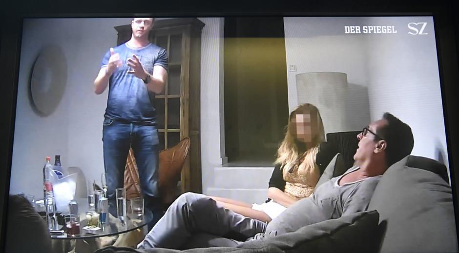 """Eine Szene aus dem belastenden """"Ibiza-Video"""" in der Causa Strache."""